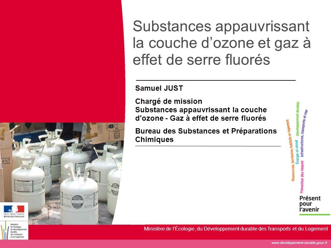Substances appauvrissant la couche d'ozone et gaz à effet de serre fluorés