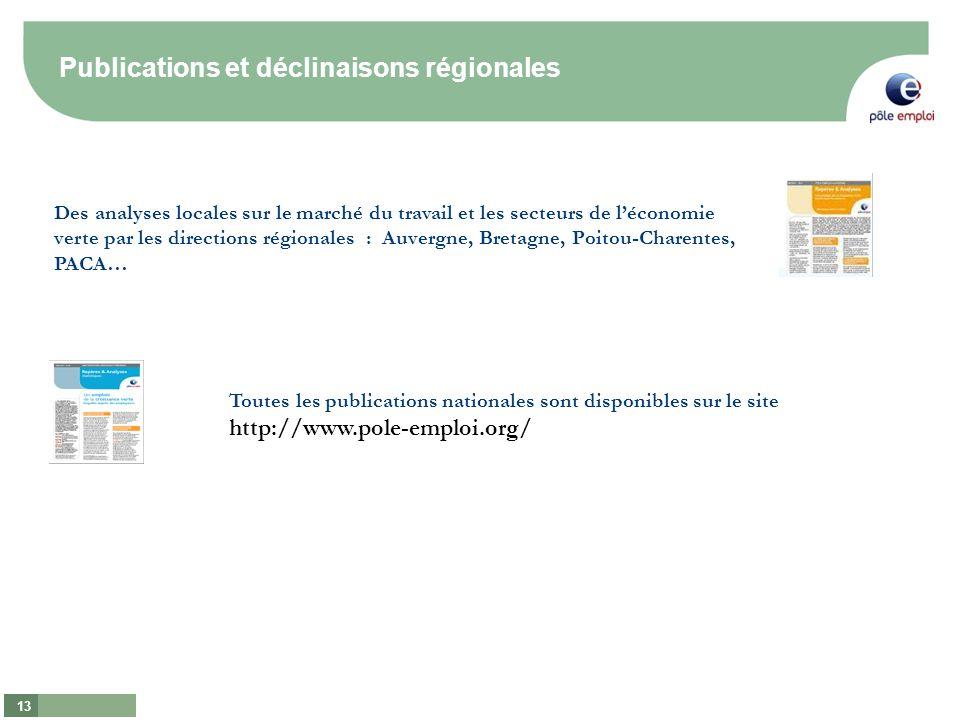 Publications et déclinaisons régionales