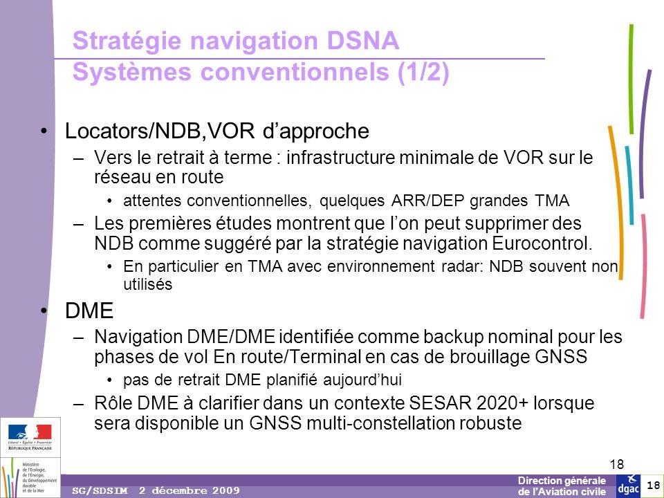 Stratégie navigation DSNA Systèmes conventionnels (1/2)