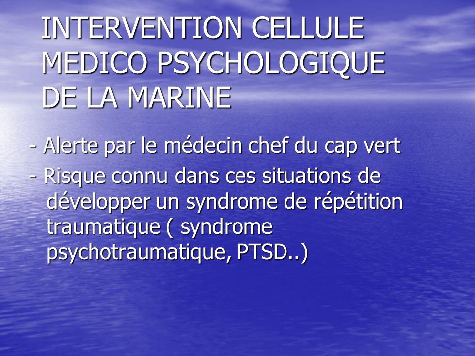 INTERVENTION CELLULE MEDICO PSYCHOLOGIQUE DE LA MARINE