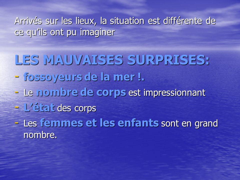 LES MAUVAISES SURPRISES: