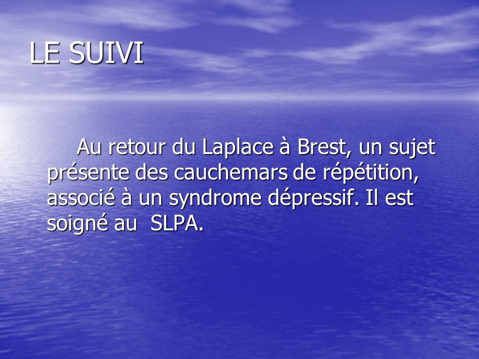 LE SUIVIAu retour du Laplace à Brest, un sujet présente des cauchemars de répétition, associé à un syndrome dépressif.