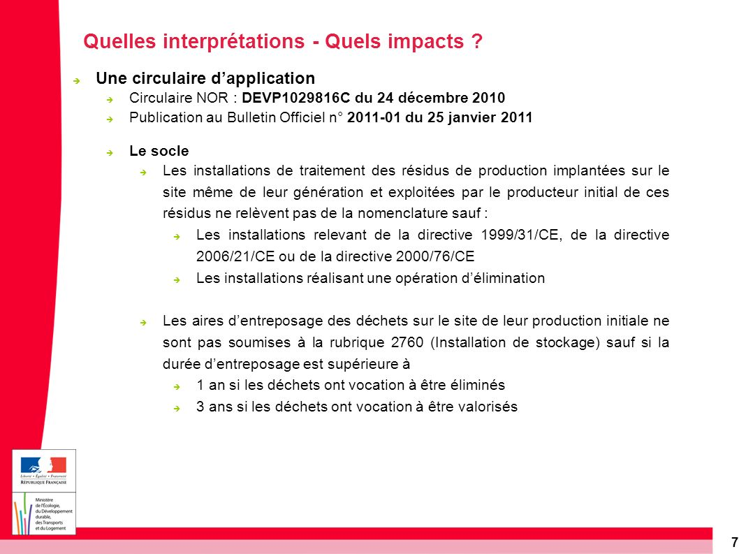 Quelles interprétations - Quels impacts