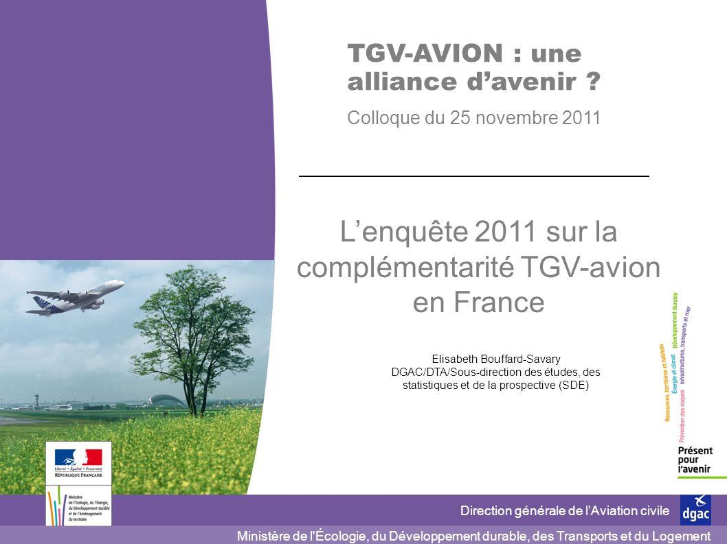 L'enquête 2011 sur la complémentarité TGV-avion en France