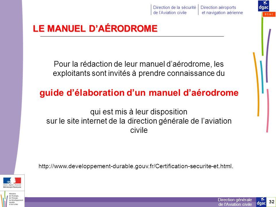 guide d'élaboration d'un manuel d'aérodrome