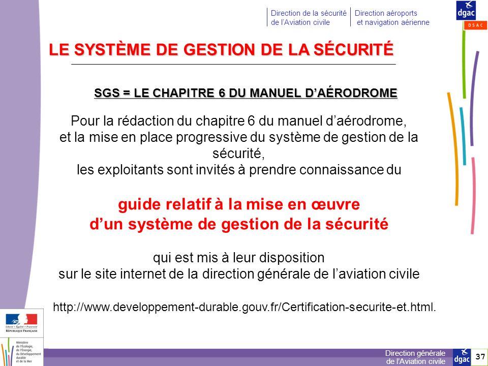 LE SYSTÈME DE GESTION DE LA SÉCURITÉ guide relatif à la mise en œuvre