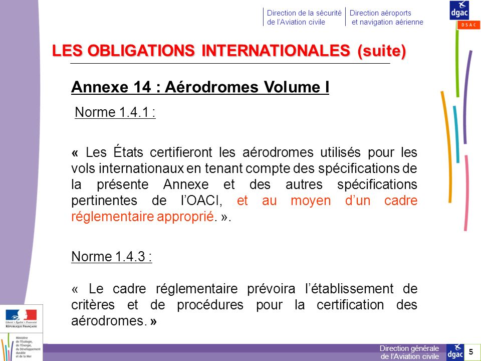 LES OBLIGATIONS INTERNATIONALES (suite)