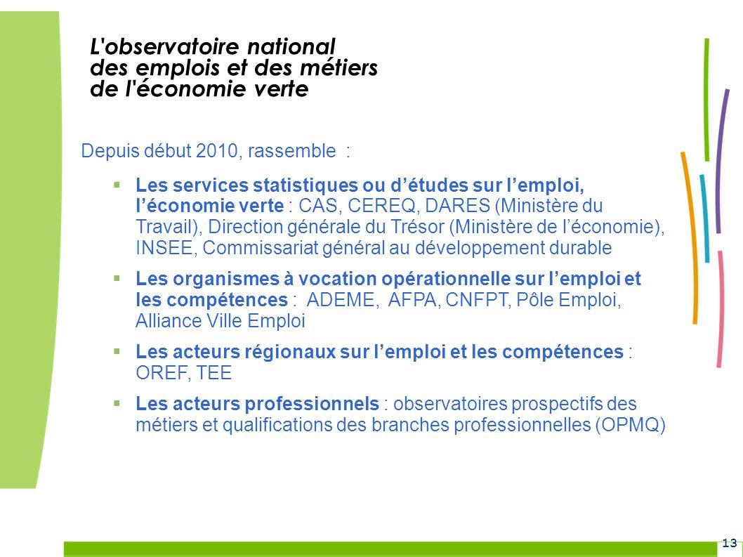 L observatoire national des emplois et des métiers de l économie verte