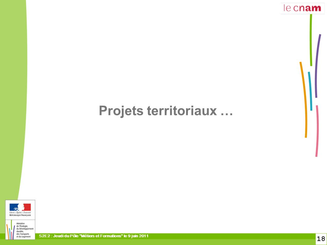 Projets territoriaux …