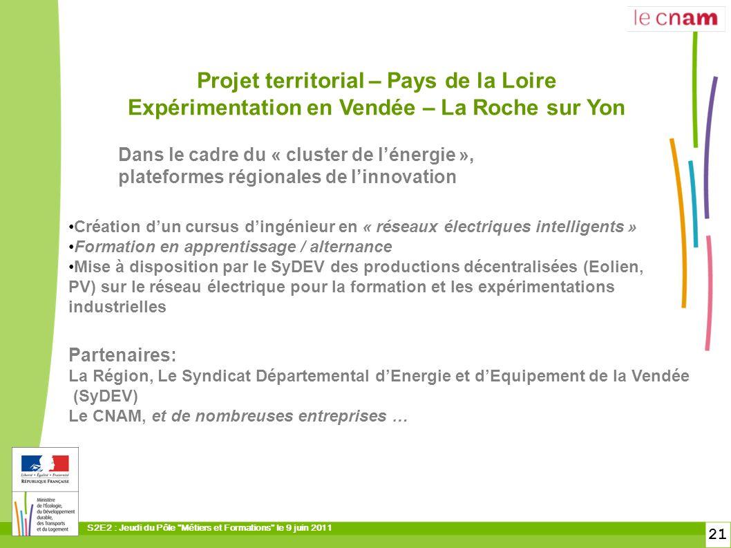 Projet territorial – Pays de la Loire Expérimentation en Vendée – La Roche sur Yon