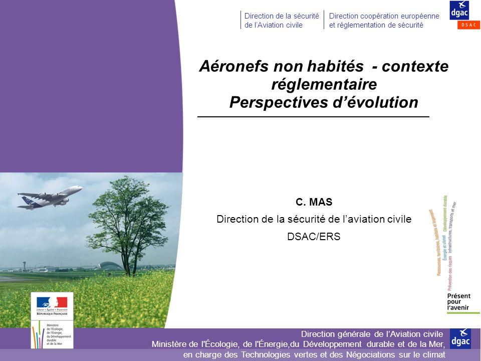 Aéronefs non habités - contexte réglementaire Perspectives d'évolution