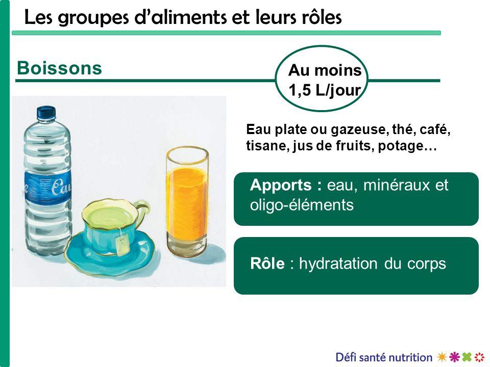 Les groupes d'aliments et leurs rôles