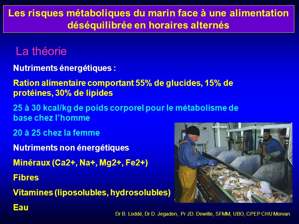 Les risques métaboliques du marin face à une alimentation déséquilibrée en horaires alternés