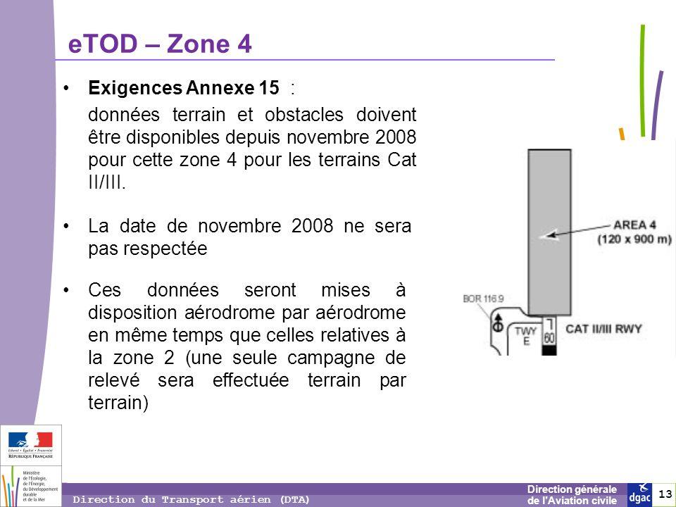 eTOD – Zone 4 Exigences Annexe 15 :