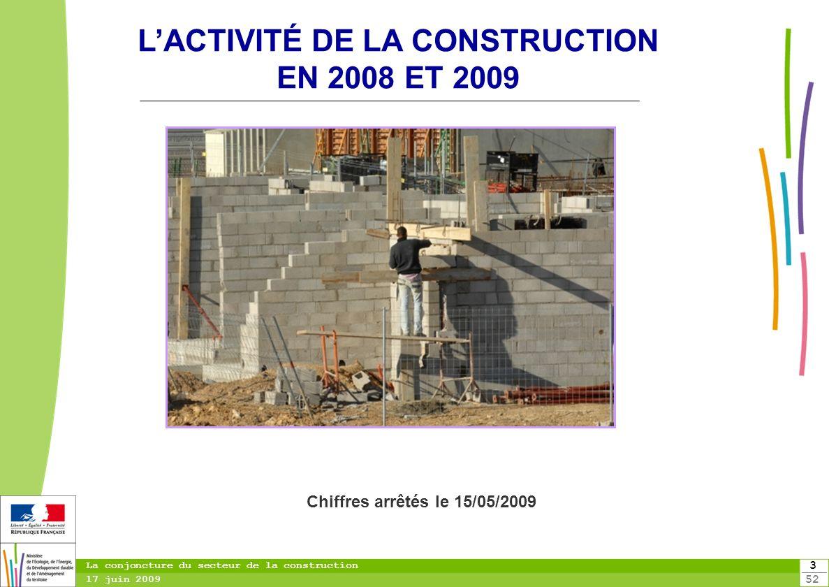 L'ACTIVITÉ DE LA CONSTRUCTION