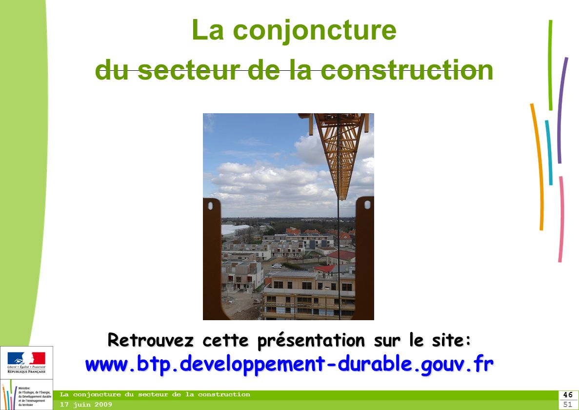 La conjoncture du secteur de la construction