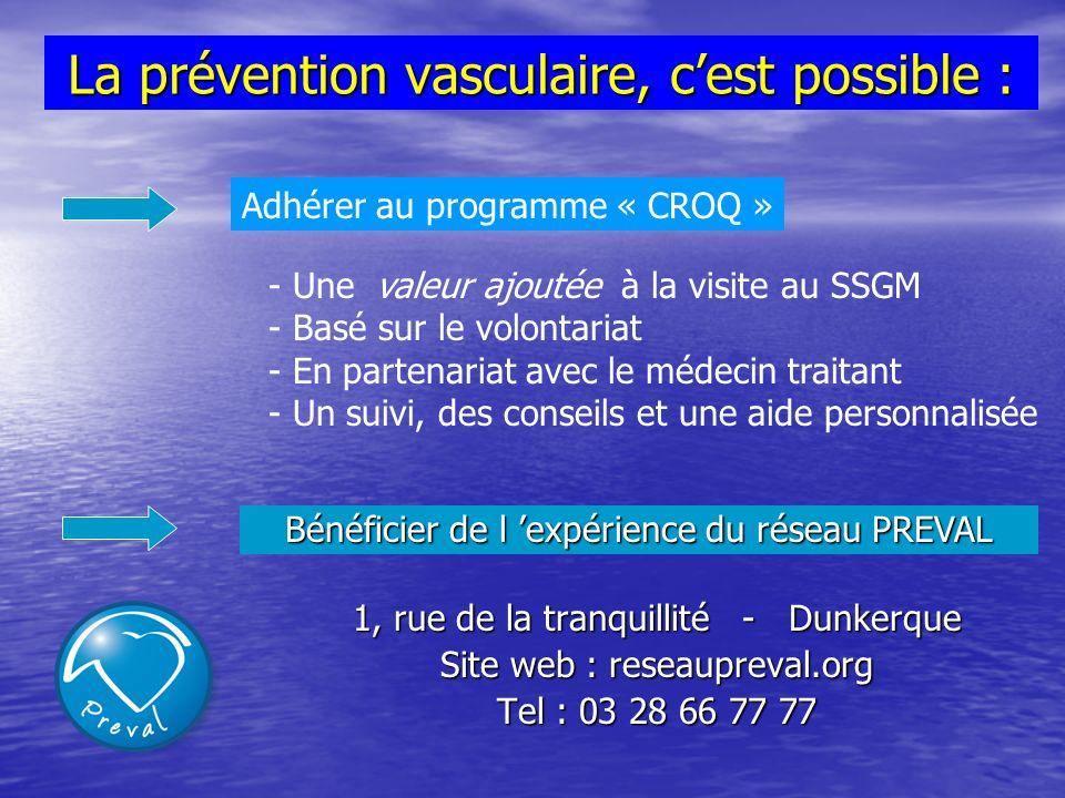 La prévention vasculaire, c'est possible :