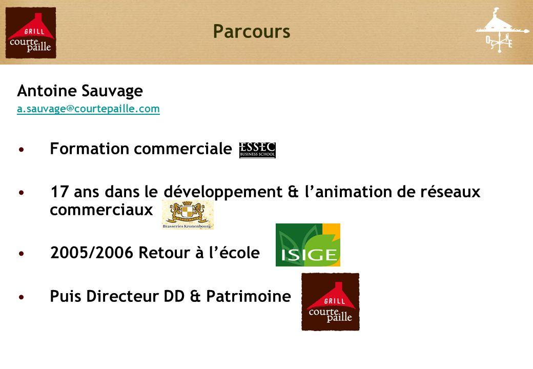 Parcours Antoine Sauvage Formation commerciale