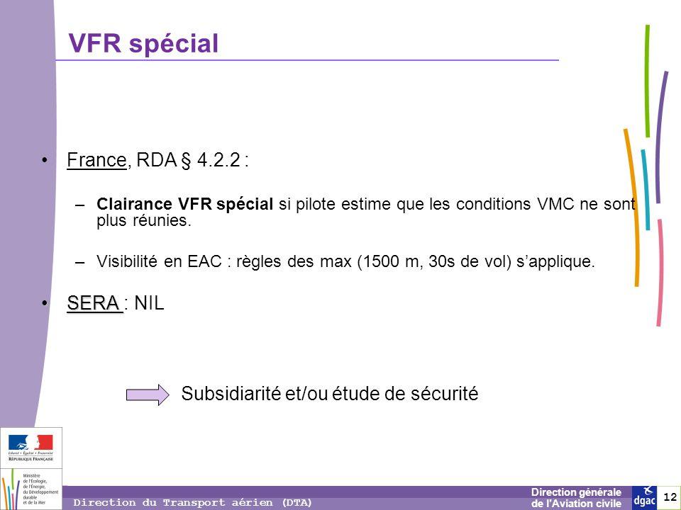 VFR spécial France, RDA § 4.2.2 : SERA : NIL
