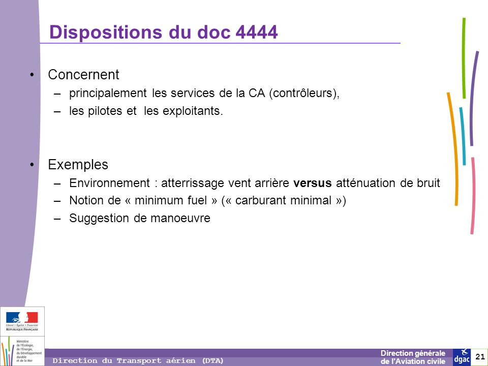 Dispositions du doc 4444 Concernent Exemples