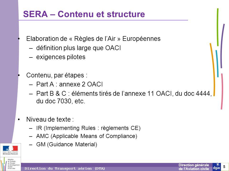 SERA – Contenu et structure