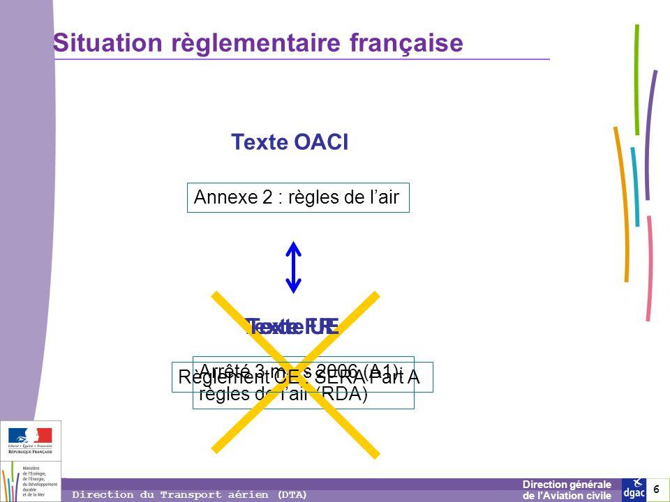 Situation règlementaire française