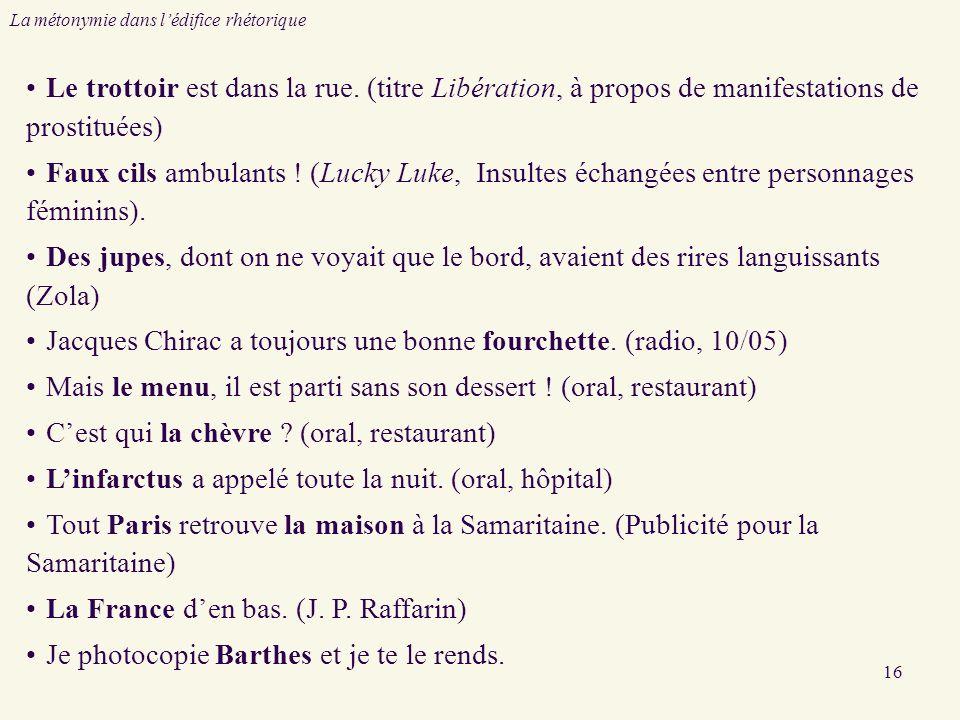 Jacques Chirac a toujours une bonne fourchette. (radio, 10/05)