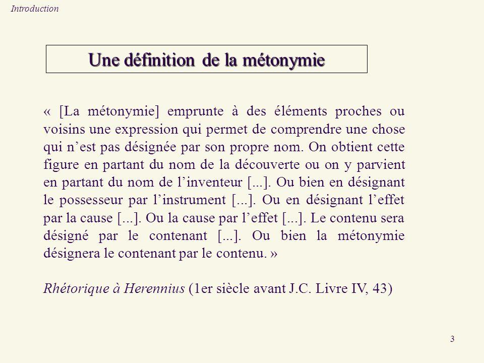 Une définition de la métonymie