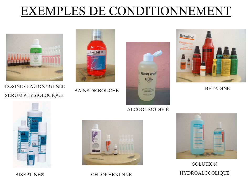EXEMPLES DE CONDITIONNEMENT