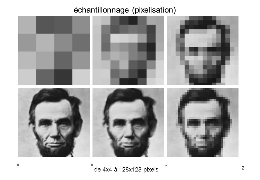 échantillonnage (pixelisation)