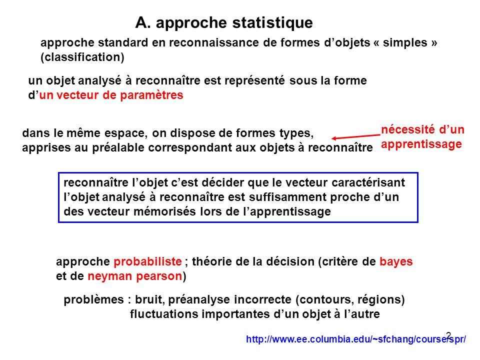 A. approche statistique