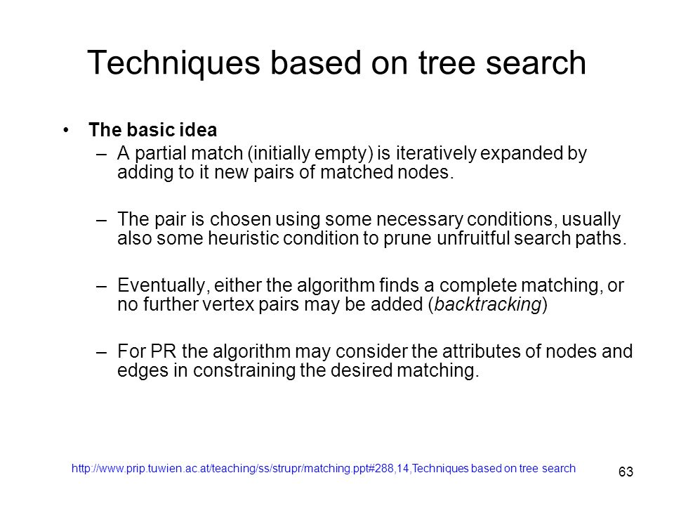 Techniques based on tree search