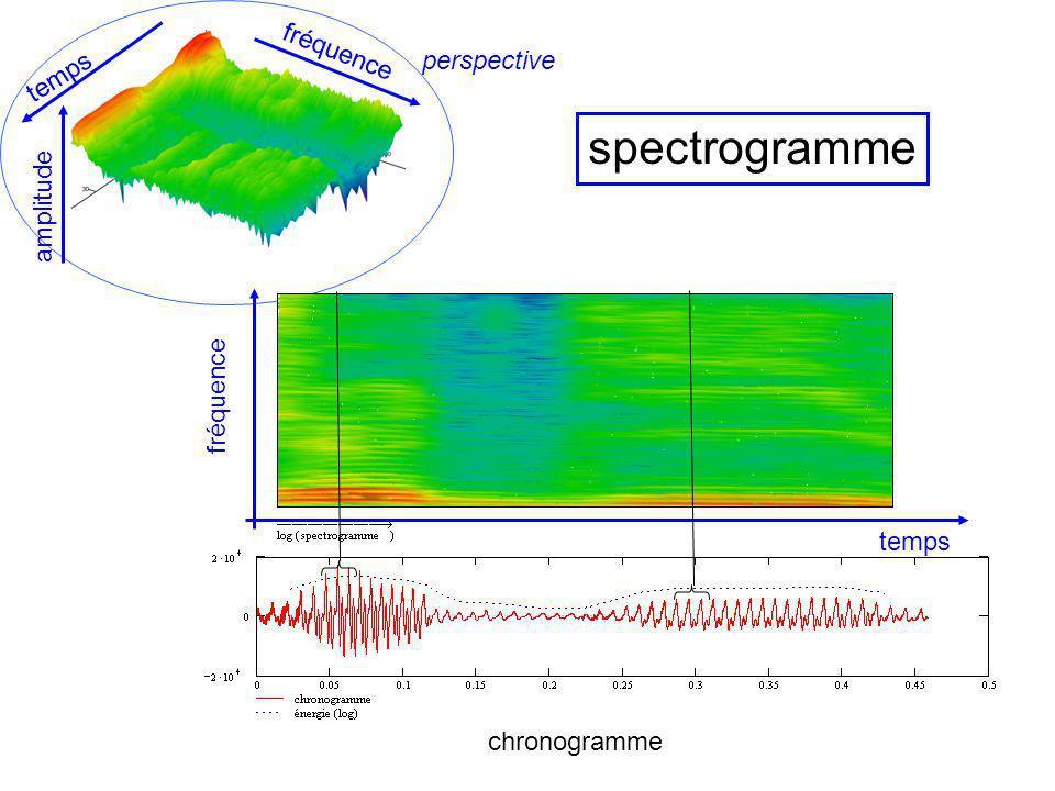 spectrogramme fréquence perspective temps amplitude fréquence temps