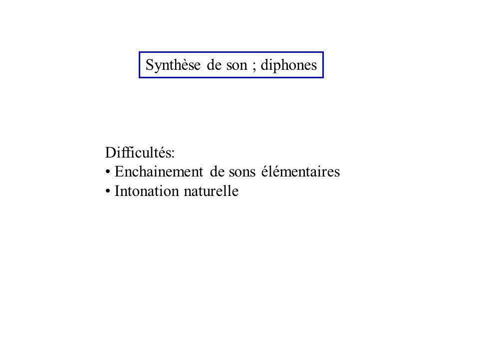 Synthèse de son ; diphones