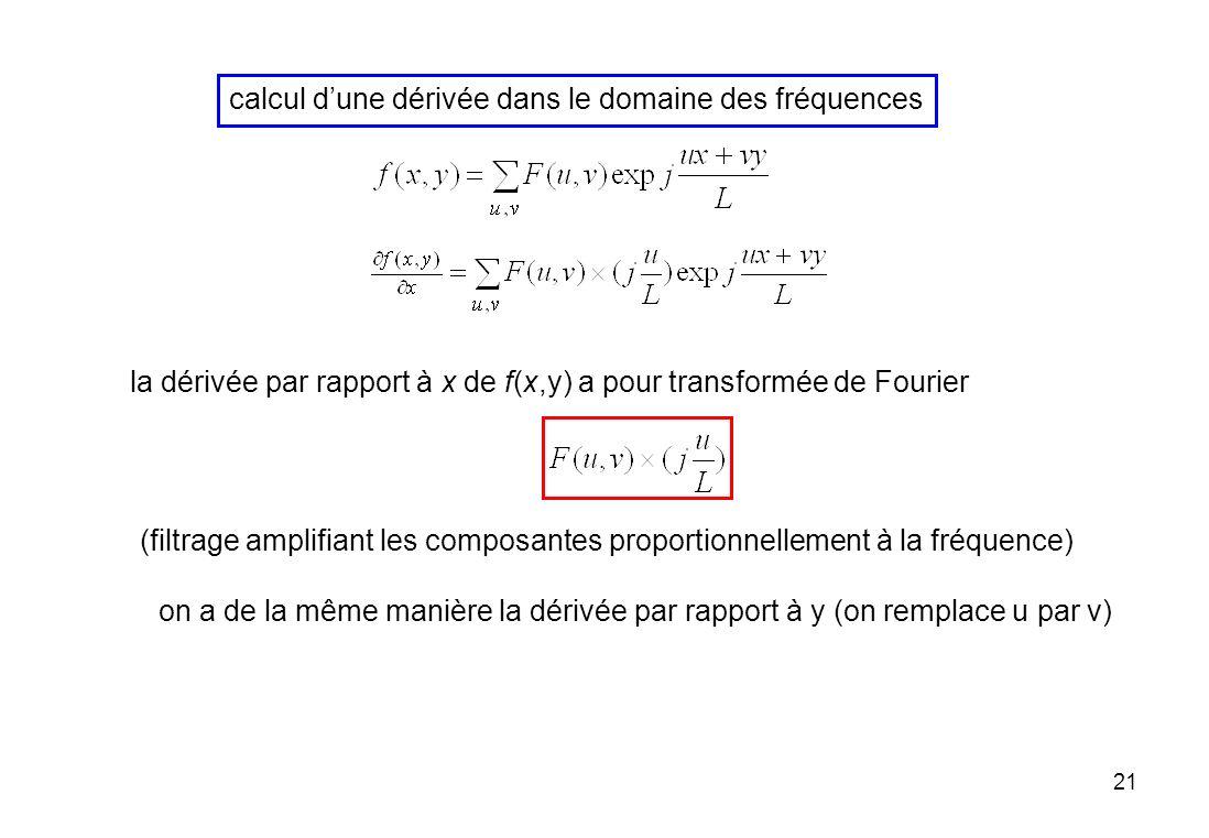 calcul d'une dérivée dans le domaine des fréquences