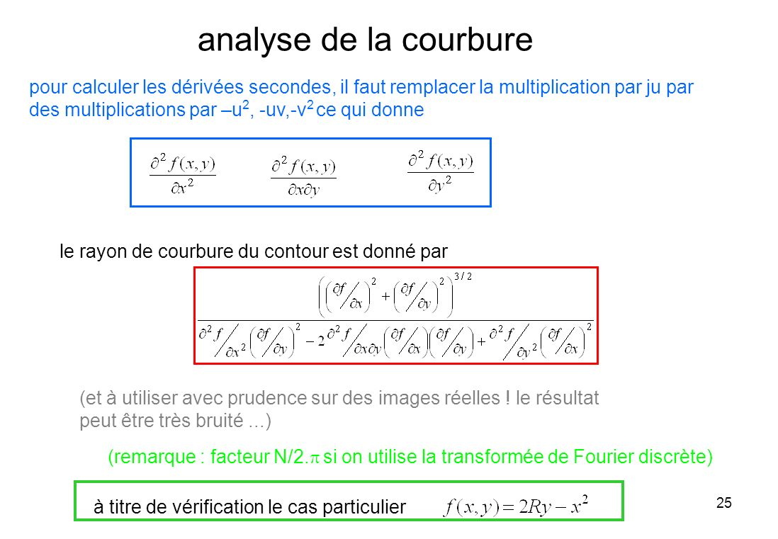 analyse de la courbure