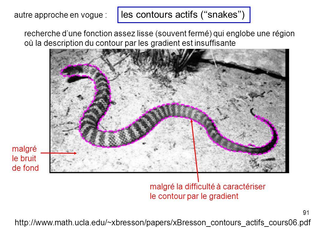 les contours actifs (''snakes'')
