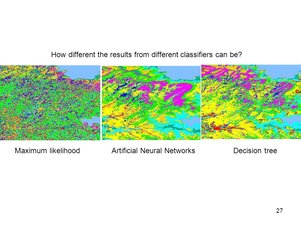 How different the results from different classifiers can be