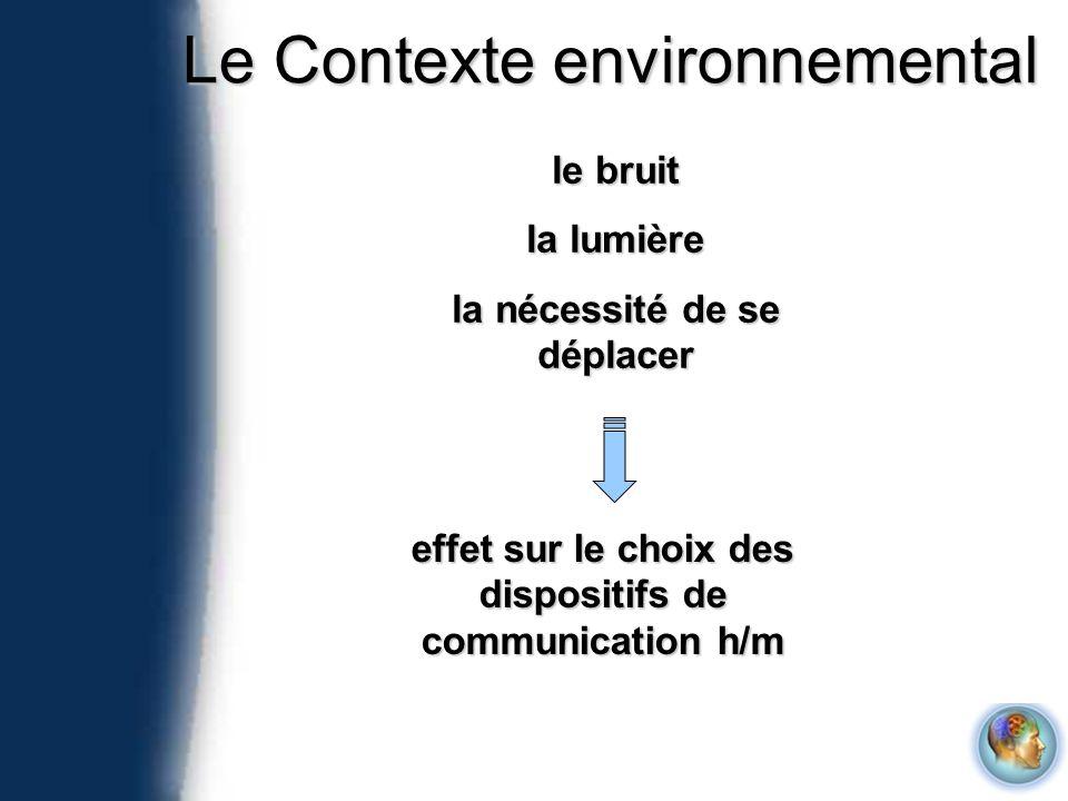Le Contexte environnemental