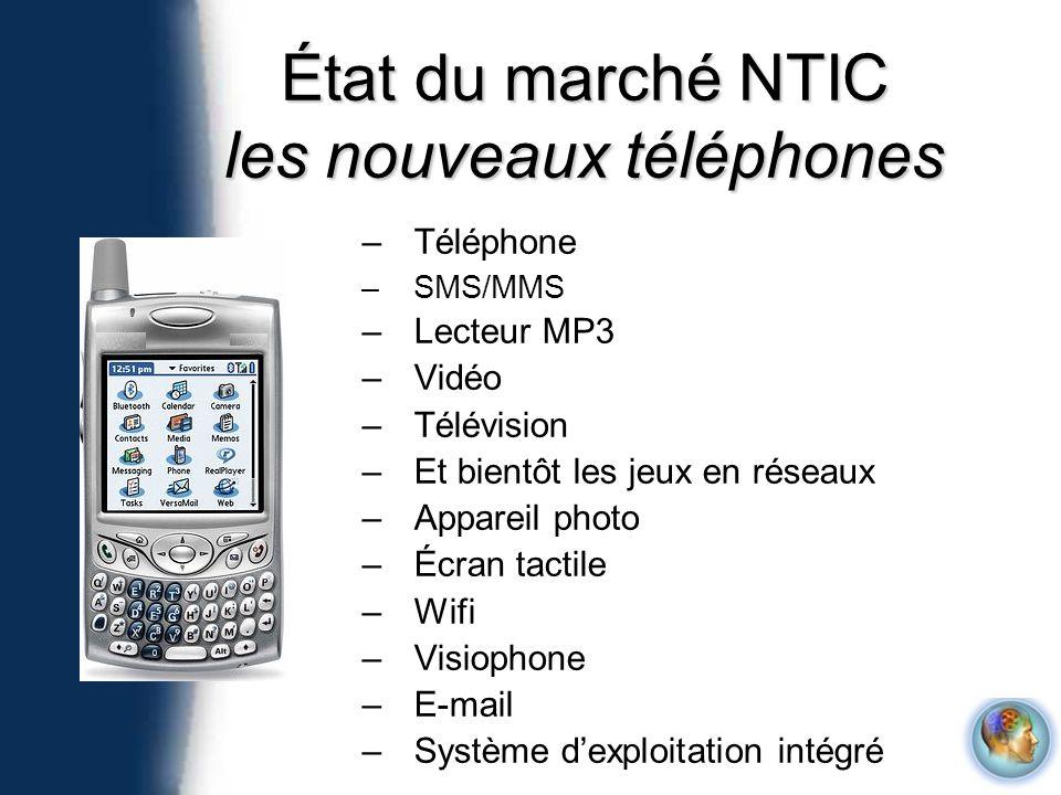 État du marché NTIC les nouveaux téléphones