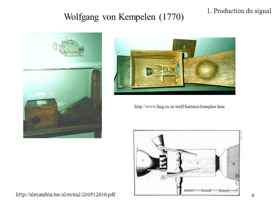 Wolfgang von Kempelen (1770)