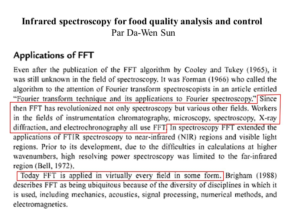Infrared spectroscopy for food quality analysis and control