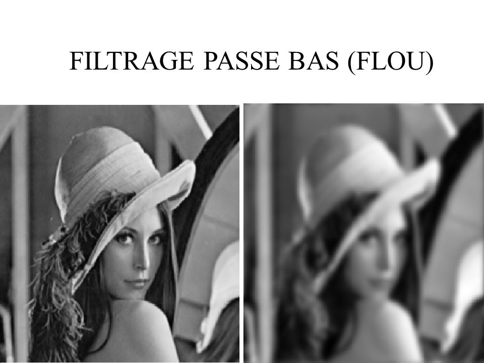 FILTRAGE PASSE BAS (FLOU)