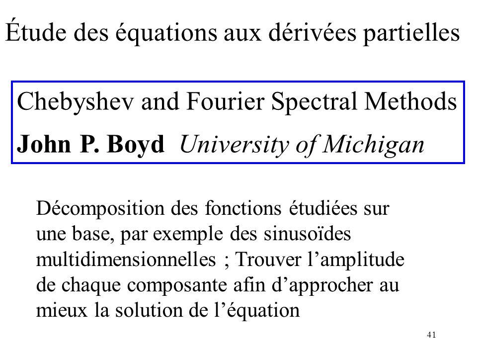 Étude des équations aux dérivées partielles