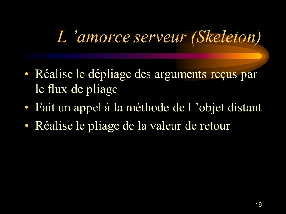 L 'amorce serveur (Skeleton)