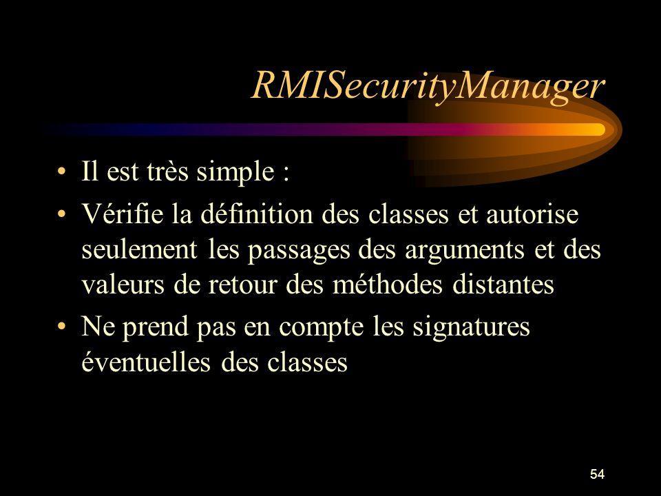 RMISecurityManager Il est très simple :