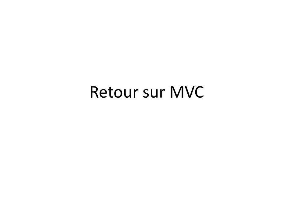 Retour sur MVC