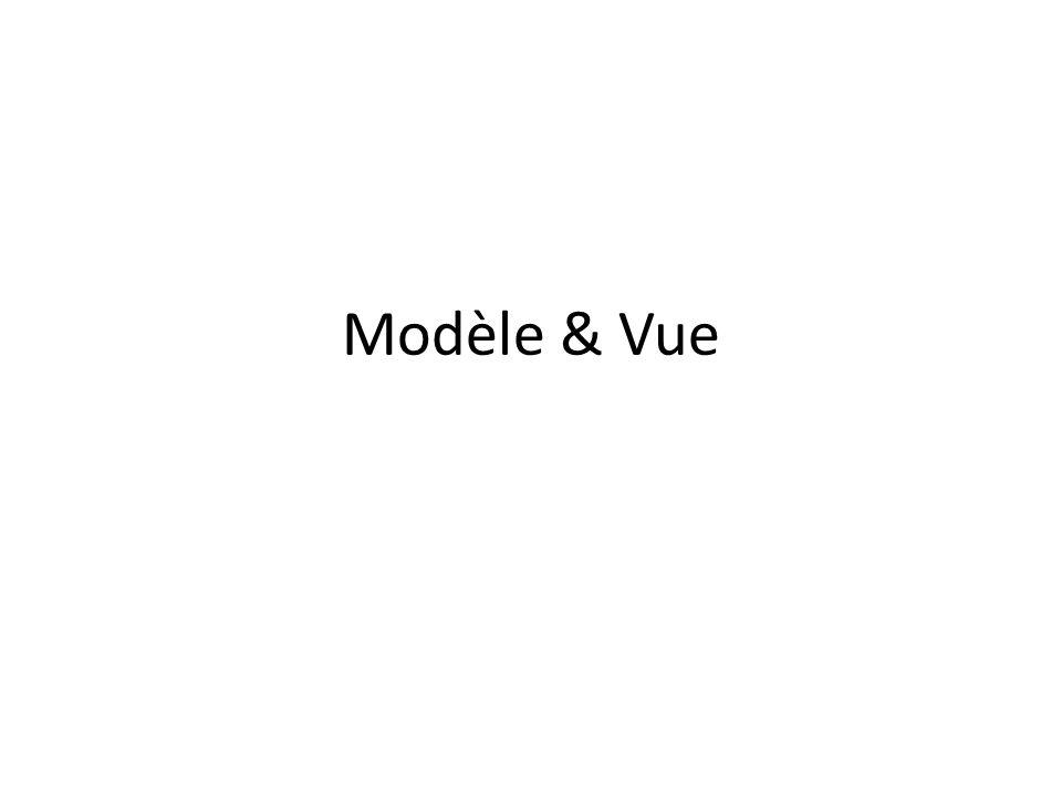Modèle & Vue