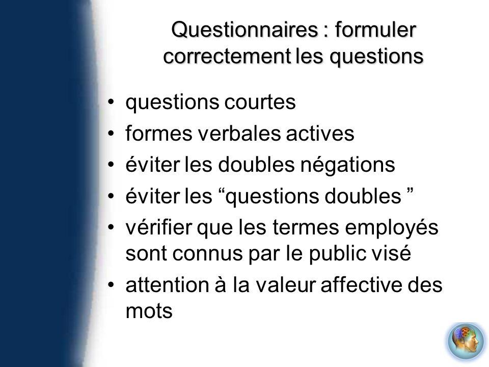 Questionnaires : formuler correctement les questions