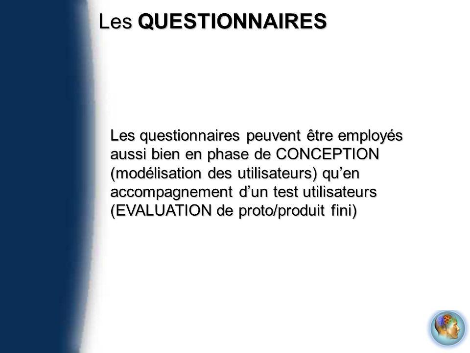 Les QUESTIONNAIRES
